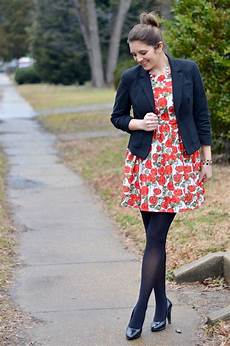 floral print in winter by m