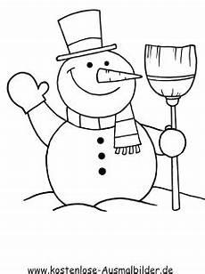 Schneemann Ausmalbild Einfach Ausmalbilder Schneem 228 Nner Winter Zum Ausmalen