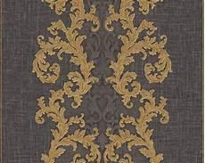 Versace Home Papier Peint 171 Baroque Gris M 233 Tallique Noir