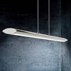 led pendelleuchte in nickel matt touchdimmer l 228 nge 110cm