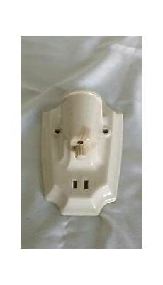 antique porcelain wall light socket ceramic white sconce w outlet paulding ebay