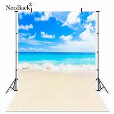 3x5ft Vinyl Summer Blue Coco by Neoback Vinyl Summer Blue Sea Photography Backdrops