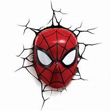 3d light marvel spiderman mask 3d deco light in led