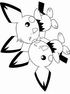 Ausmalbilder Pikachu Kostenlos Kleurplaat Pichu Malvorlage Malvorlagen