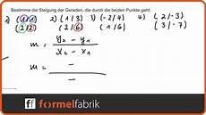 Lineare Funktionen Steigung Mit Zwei Punkten Berechnen
