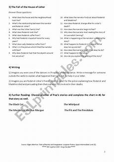 fall of the house of usher lesson plans poe red deathfall of the house of usher worksheet esl db
