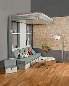 rangez votre lit au plafond lit escamotable lit gain de