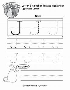 uppercase letter j tracing worksheet doozy moo