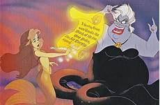 ursula and ariel writing ursula s evil contract from the mermaid would