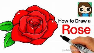 How To Draw A Rose Step By Easy – Kids YouTube