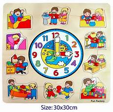 puzzle clock children a2z montessori australia