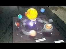 maqueta del sistema solar con movimiento traslacion y doovi