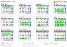 Kalender 2019 Ferien Bayern Feiertage