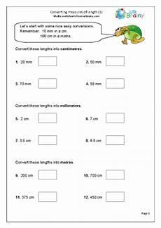 measurement worksheets ks2 tes 1489 converting measurements of length
