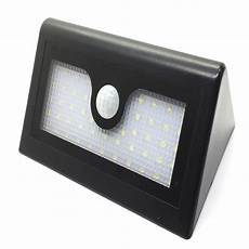 solar wall light 48 led wall l with pir motion sensor light control induction outdoor