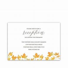 What Is A Reception Card In Wedding Invitations fall wedding invitation archives noted occasions