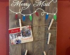 christmas card holder christmas decor merry mail christmas wooden crafts pinterest merry