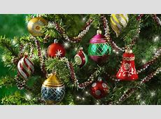 Christmas Ornaments on Tree HD Wallpaper   Background
