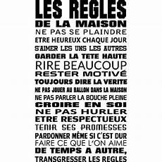Stickers Citation Les Regles De La Maison Pas Cher