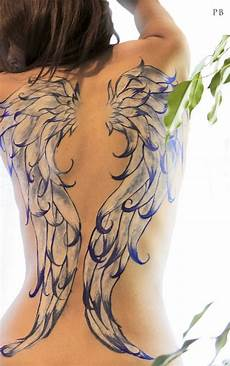 painted wings on back tattoo tattoomagz tattoo