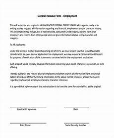 free 19 sle general release of information forms in pdf ms word