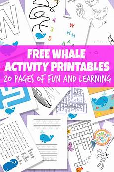 whale printable activities for kids