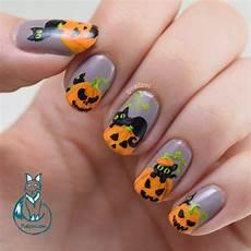 black cats and pumpkins nail art nailzini a nail art blog