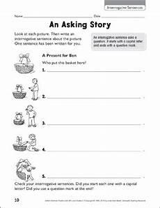 punctuation worksheets l2 20825 an asking story interrogative sentences printable skills sheets