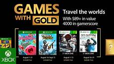 xbox august 2017 with gold