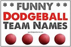 Best Dodgeball Team Names