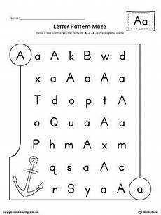Letter A Pattern Maze Worksheet Alphabet Worksheets