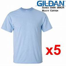gildan t shirt light blue blank plain s m l xl 2xl men s heavy cotton ebay
