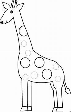 giraffe mit runden kreisen ausmalbild malvorlage comics