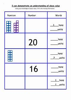 place value worksheets tes 5289 year 1 and 2 place value numicon activity teaching resources