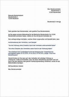 fristlose k 252 ndigung mietvertrag muster k 252 ndigung vorlage