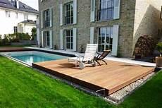 pool terrasse bauen poolabdeckung poolbau hesselbach schwimmbadtechnik