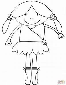 ballerina coloring page free printable