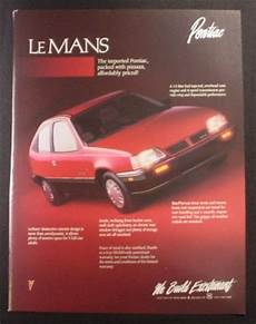 books about how cars work 1991 pontiac lemans on board diagnostic system magazine ad for pontiac lemans red car 1988 magazines ads and books store