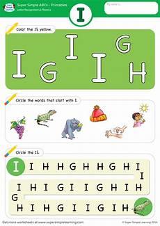 i phonics worksheet letter recognition phonics worksheet i uppercase super simple