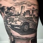 Lowrider Car Tattoo  Tatoos Chicano Tattoos
