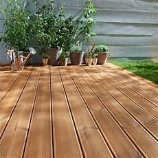 Holz Dielen Terrasse Eichenholz Beige Braune Farbe