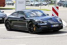 production ready 2019 porsche taycan spied on the road