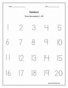 worksheet numbers 1 to 20 trace the numbers 1 20 worksheet