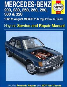 car maintenance manuals 1993 mercedes benz w201 transmission control mercedes benz w124 series repair manual 1985 1993 haynes 3253