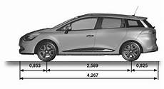 renault clio dimensions technical specifications