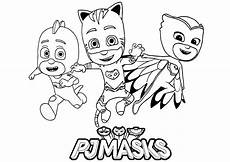 Pj Mask Malvorlagen Pdf Pj Masks For Children Pj Masks Coloring Pages