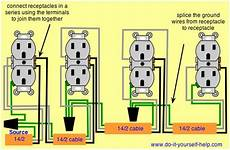 wiring diagram for a series of receptacles home electrical wiring installing electrical