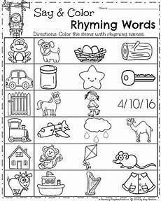 spring kindergarten worksheets kindergarten worksheets rhyming kindergarten rhyming worksheet