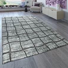 teppich anthrazit kurzflor teppich karo muster grau anthrazit teppich de