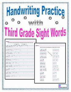 handwriting worksheets for third grade 21947 handwriting practice third grade sight words by vicki corich tpt